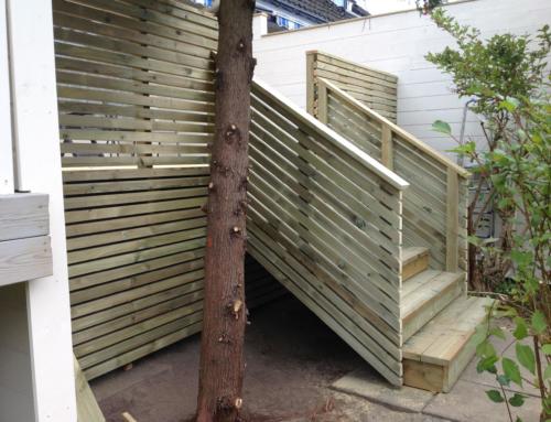 Ny terrasse og levegg